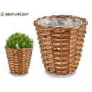 medium conical wicker basket round
