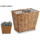 large rectangular conical wicker basket