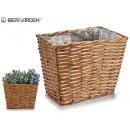 wholesale Garden Furniture: large rectangular conical wicker basket