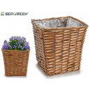 large conical square wicker basket