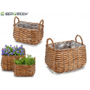 set 2 baskets w / rectangular shape
