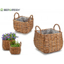 set 2 baskets w / square shape