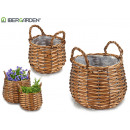 set 2 baskets w / round shape