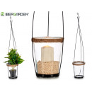 conical flower pot shaped candle holder