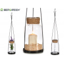 conical jar shaped candle holder