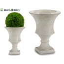 wholesale Drugstore & Beauty: small cream resin flower pot