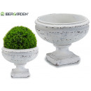 planter cup smooth white old small