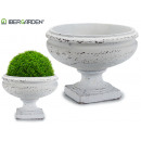 planter cup smooth white old medium