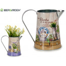 plant pot metal pitcher assorted two
