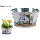 wholesale Fashion & Apparel: round metal planter under botanical 2mo