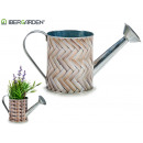 wicker metal planter, 2 times assorted