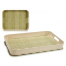 bamboo fiber tray 41cm, 2 times assorted organic