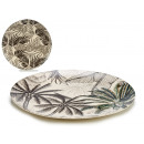 plate 25cm bamboo fiber, 2 times assorted exotic