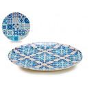 plate 20cm bamboo fiber, 2 times assorted tiles