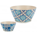 24.5cm bamboo fiber bowl, 2 times assorted tiles