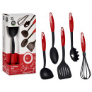 set of 5 nylon kitchen utensils with red handle