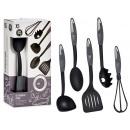 set of 5 anthracite nylon kitchen utensils
