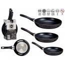 set of 3 pans 20-24-28 cm black