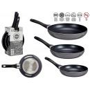 set of 3 pans 20-24-28 cm gray