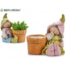wholesale Plants & Pots: flower pot leprechaun assorted 2 pastel ...