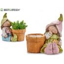 flower pot leprechaun assorted 2 pastel models