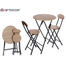 wholesale furniture: table set 2 chairs mad3d black legs
