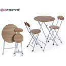 Tischset 2 Stühle mad3d weiße Beine
