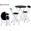 table set 2 black acolch chair legs bla