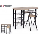 kitchen table set 2 chairs pleg pata negra