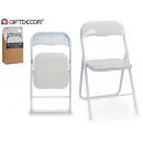 white folding chair white leg shine
