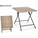 folding table color wood black leg