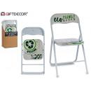 nagyker Bútorok: fehér fényes pvc összecsukható szék újrahasznosítá