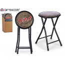 wholesale Small Furniture: stool pleg pvc glitter black bistrot