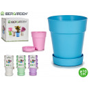 lot de 3 pots en plastique assiette 10cm 5 colore
