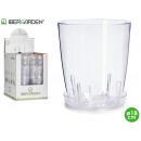 vaso di plastica trasparente piatti 18 centimetri