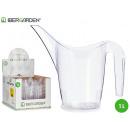 1l transparente Kunststoff-Gießkanne