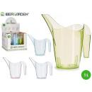 Plastikgießkanne sortiert 4 Farben 1l