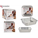 set of 6 square aluminum trays