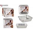 set of 6 square aluminum trays