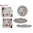 Set mit 4 Aluminiumgrill- / Pizzaschalen wiederhol