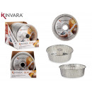 set of 4 small flan aluminum molds