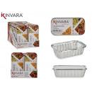 set of 6 deep aluminum trays with medium lid