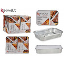 set of 2 deep aluminum trays with lid