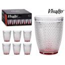 vaso cristal puntos agua 30cl rojo