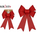 pvc gift bow 22x30 cm red with dots