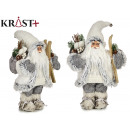 witte kerstman staand 30cm