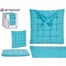 coussin de chaise uni bleu