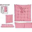 coussin de chaise rose uni