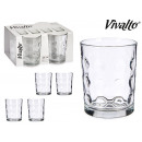 set of 4 glasses with dots 400ml