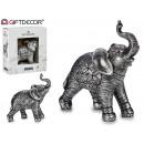 słoń żywica mały srebrny